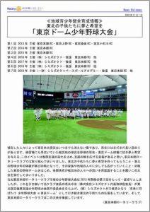 東京ドーム少年野球大会